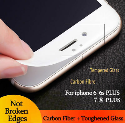 3D Curved Full Cover Real Tempered Glass Screen Protector For iPhone 6s/7/8plus