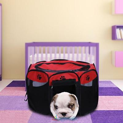 Folding pet Tent Playpen Dog Fence Puppy Kennel Folding Exercise Play Cages