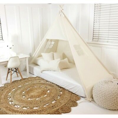 Cute Simple Style Castle Children Teepee Four Poles Kids Baby House Play Tent