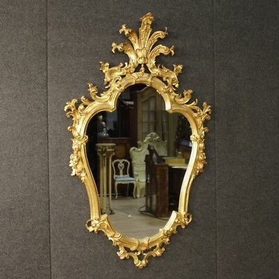 Mirror Venetian furniture golden wood antique style antiques 900