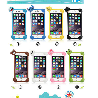 """For All 4""""-6"""" Inches Soft Silicone Phone Case Protective Covers Bumper Universal"""