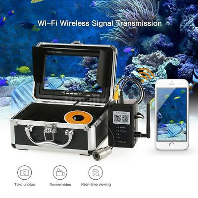 "1000TVL WiFi Fishing Camera Finder App IOS and Android 7"" Color Monitor 30m O3F9"