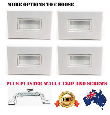 New Flush Bristle Brush Cable Inwall Management Wall Plate Anti-dust White