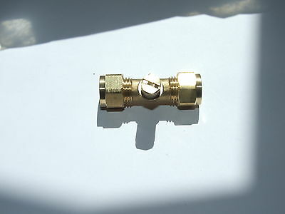 Gas test point 10mm Tee, LPG or natural Gas. Fits 10mm copper pipe.