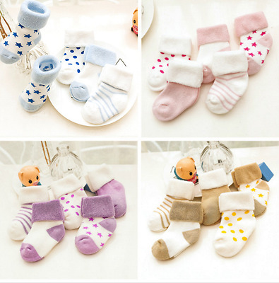 Autumn/winter baby socks all cotton wool ring child socks with thick baby socks!