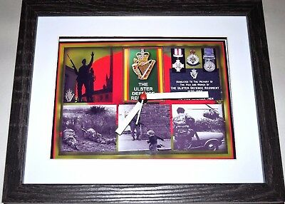 Udr Ulster Defence Regiment British Forces 10 X 8 Box Frame Picture Clock