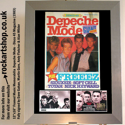 Depeche Mode SIGNED DAVE GAHAN+MARTIN GORE+ANDY FLETCHER+ALAN WILDER Autograped