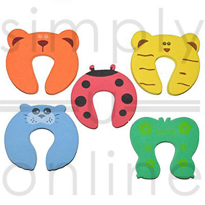 Baby Safety Foam Door Jammer Guard Finger Protector Stoppers - Animal Designs