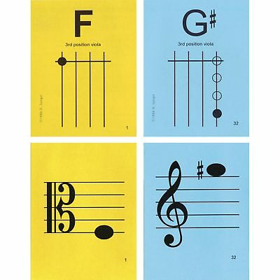 "Viola 3rd Position 4.25""x5.5"" Music Flashcards by N&S - FAST SHIPPING!"