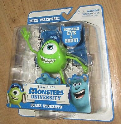 Disney Pixar Monsters University Scary poseable Mike Wazowski figure appx 13cm