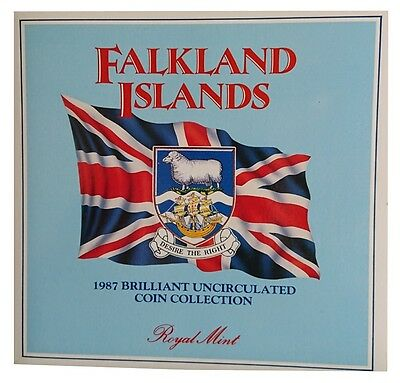 UK - Falkland Island 1987 Brilliant Uncirculated Coin Collection - Royal Mint