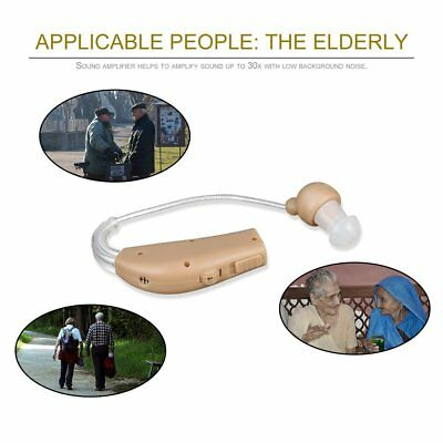 New Rechargeable Hearing Aids Personal Sound Voice Amplifier Behind The Ear FR
