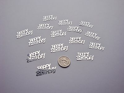 Wedding Table Scatters Confetti Happy Birthday - Silver