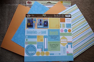TLC 12x12 Beach Scrapbook Kit Vacation Holiday Sand Sea Getaway Waves Beach