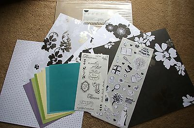 Creative Memories 12x12 Black & White Save the Date Additions Kit Scrapbook/Card