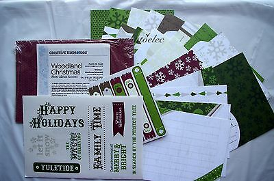 Creative Memories Woodland Christmas Photo Album Journalling Accents Kit