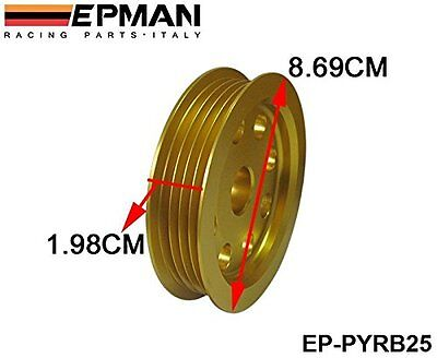 EPMAN Aluminium Alloy Lightweight 3 Piece Pulley Set for Nissan Skyline Models