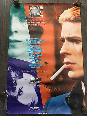 David Bowie - ChangesBowie  promotional poster 24x37 Ryko Disc