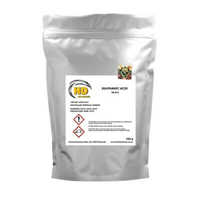 99.5% PURE Sulphamic Acid Sulfamic  Crystal 500g 1.5 kg Descaler / Rust Remover