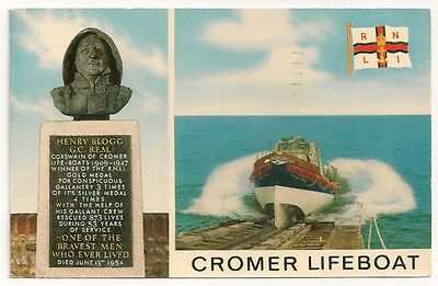 Old Postcard Cromer Lifeboat 1973