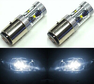 LED 30W BA20d White 5000K Two Bulbs Head Light Off Road Replacement Lamp OE