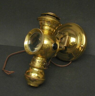 Vtg Nautical Ship Boat Interior Cabin Suspension Brass Lamp Light Electrified