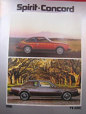 1981 Amc Original Sales Brochure Spirit Concord Sedans Wagons Liftbacks Dl