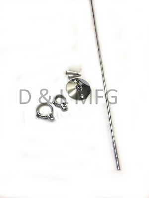 """Ceiling Support Rod for Clawfoot Shower Curtain Rod 36"""" (can be cut to length)"""