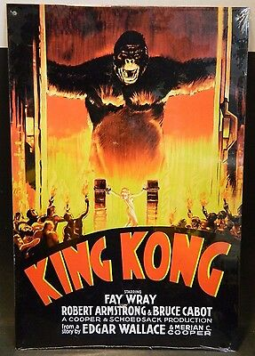 "King Kong Movie (1933) Tin Sign 15.5"" x 11.5"" Excellent Condition"