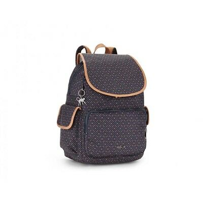 Kipling City Pack One Size Woven Blue Geo