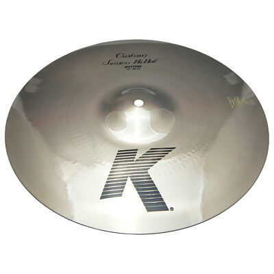 "Zildjian K0995 14"" K Custom Session Hi Hat Bottom Drumset Dark Cymbal - Used"