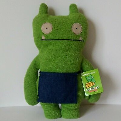 Ugly Doll Green Wage 2005 Tower Record Monster Doll Fleece Uglydoll Monsters