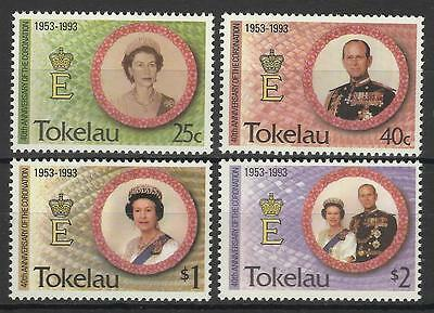 TOKELAU QE11 1993 CORONATION 40th ANNIV SET MINT
