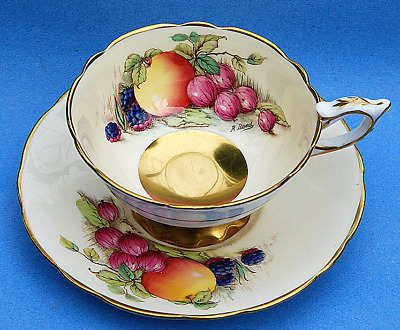 Royal Stafford Harvest Fruits Cup And Saucer