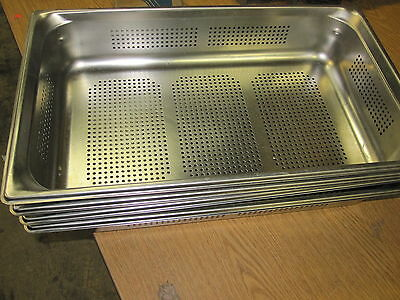 NEW  Vollrath 90043 Super Pan 3 Full-Size Perforated Steam Pan, Stainless
