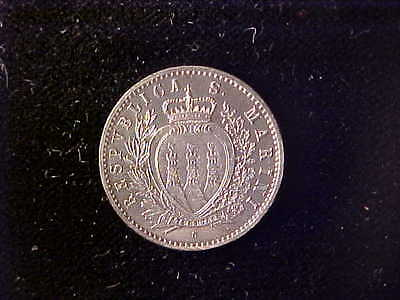San Marino 50 Centesimi 1898 One Year Type****no Reserve
