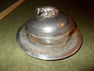 Antique, Rare British Silver Butter Dish C. 1880