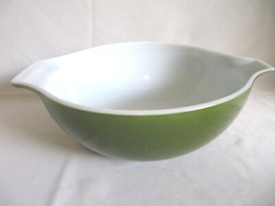 Vintage Green 4 Qt Pyrex Avocado Mixing Nesting Bowl 444