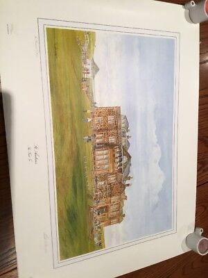 Signed Print Of The First Tee At St Andrews Signed By Bill Waugh