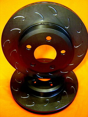 SLOTTED VMAX J HOOK Ford BA BF FG Front Disc Brake Rotors NEW PAIR & WARRANTY