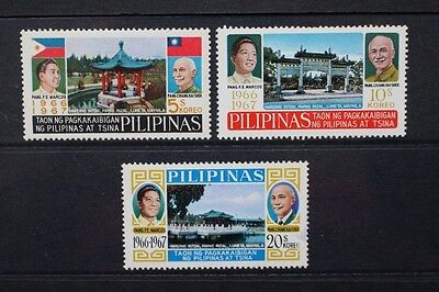 PHILIPPINES 1967 China-Philippines Friendship. Set of 3. MNH. SG1059/1061.