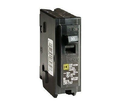Square D HOM130CP Homeline Single Pole Circuit Breaker, 30 Amp, 1""