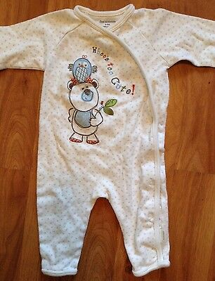 """Infant Unisex First Moments Long Sleeve """"Whoo's too Cute?"""" Sleeper 6-9 Months"""