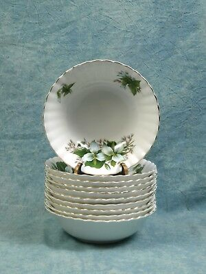 Vintage Royal Albert Trillium CEREAL BOWL Classy gold white green