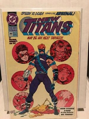 The New Titans #99 (Jul 1993, DC) First Appearance of Arsenal GD/VG ARROW