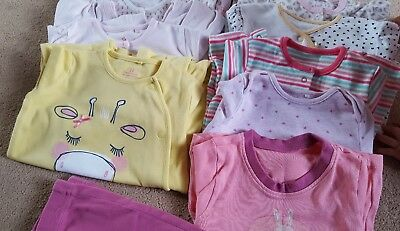 Lovely baby girls bundle of sleepsuits Mostly NEXT age 6-9 months