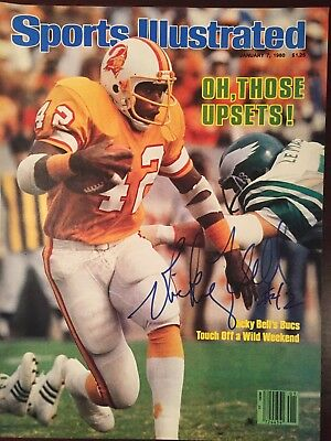 Ricky Bell (died 1984) Signed Sports Illustrated 1/7/80 Cover NFL Tampa Bay USC