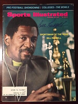 RARE Bill Russell Celtics Signed Sports Illustrated 12/23/68 Sportsman Of Year