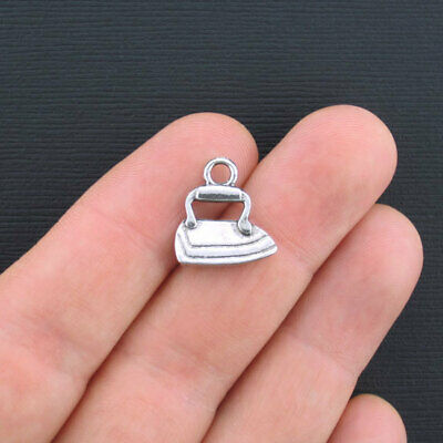 5 Water Bottle Charms Antique Silver Tone 2 Sided SC5085