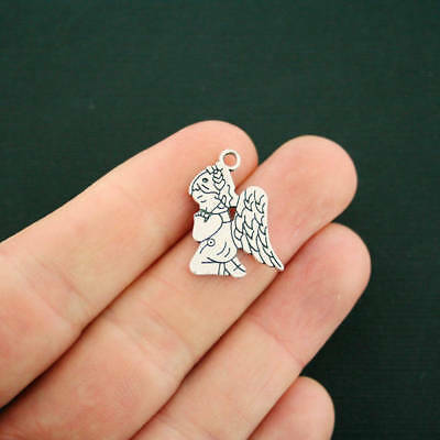 8 Angel Charms Antique Silver Tone SC2829